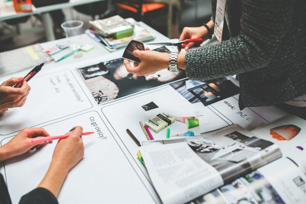 marketing team doing a competitive analysis of marketing basics