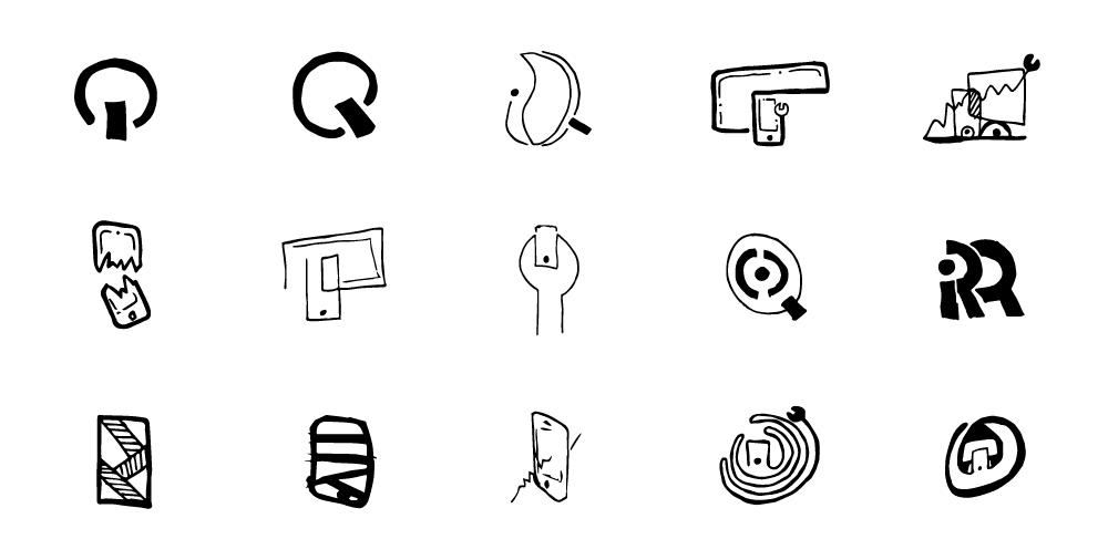 iresq logo sketches