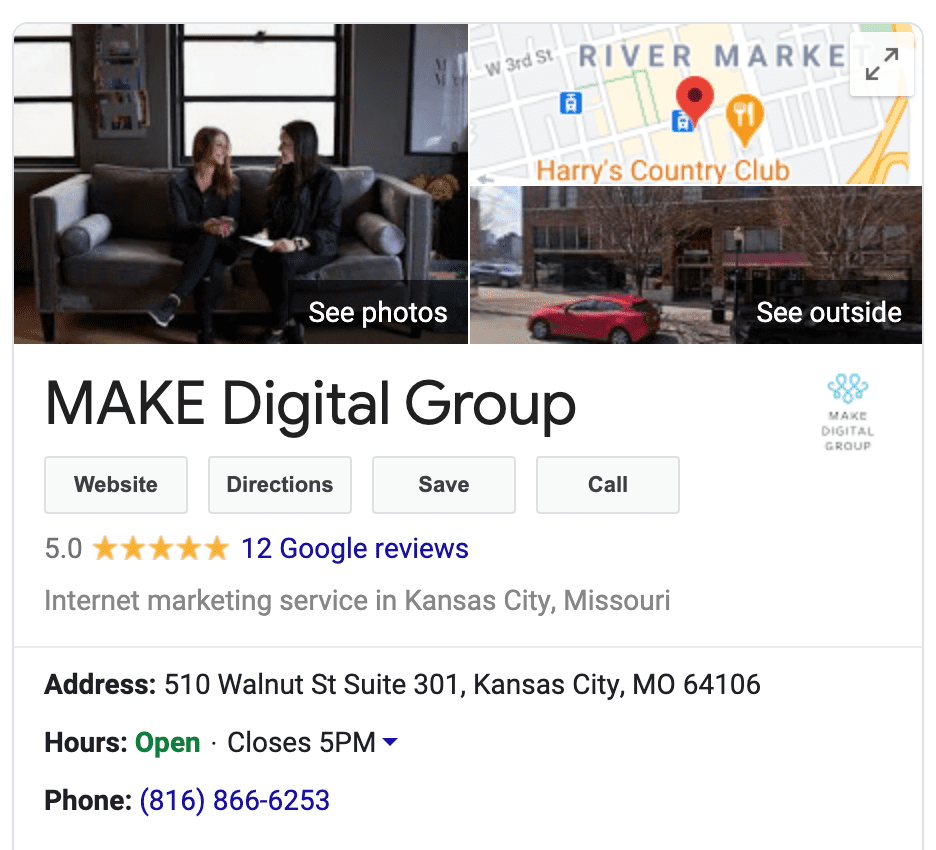 MAKE Digital Group Google Search