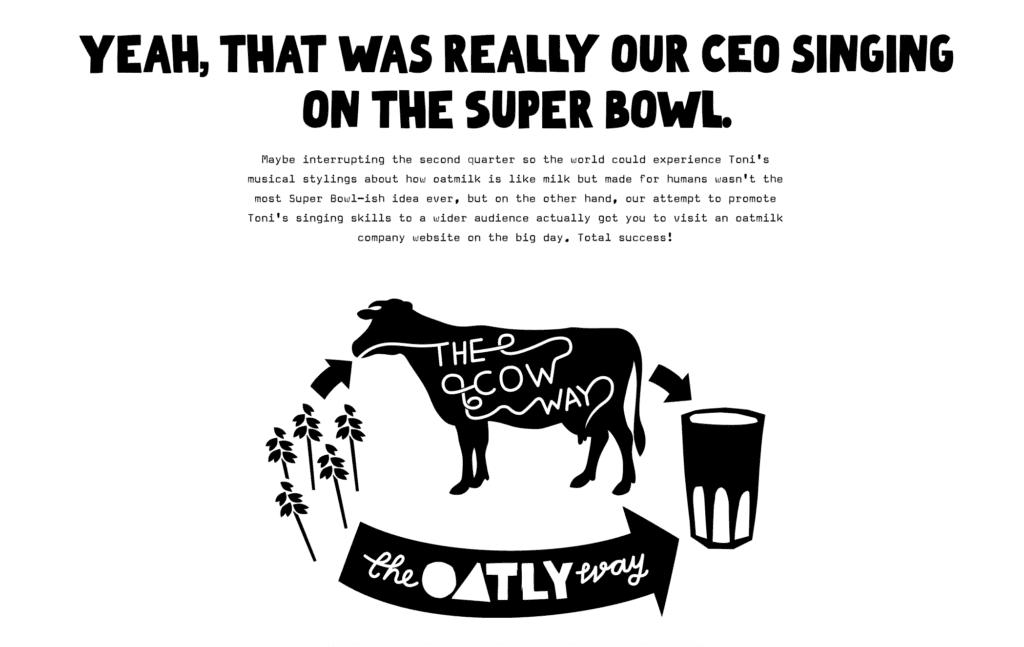 oatly super bowl commercial website