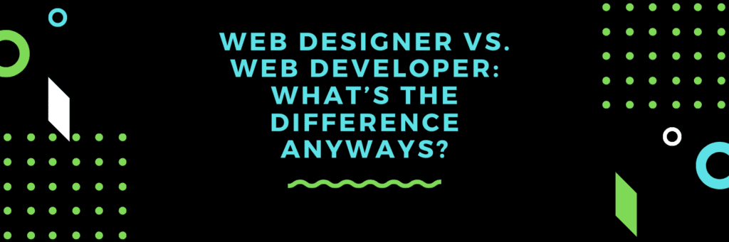 is there a difference between a web designer and wed developer