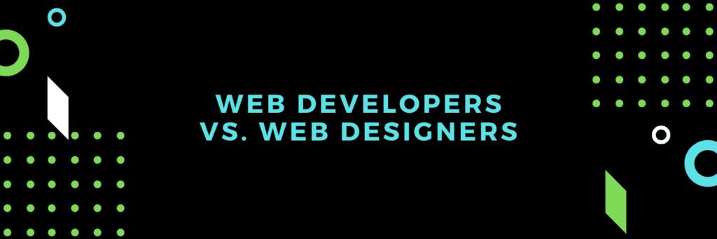web developers vs. web designers